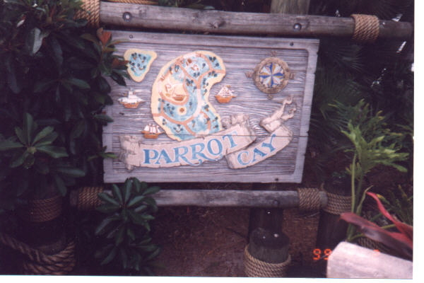 disney Parrot Cay Sign